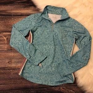 Athleta Ocean Quarter-Zip Athletic Pullover